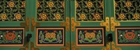 Buddhist temple Paintings, Kayasan Mountains, Haeinsa Temple, Gyeongsang Province, South Korea Fine-Art Print