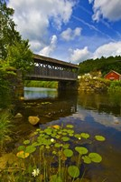 Covered bridge across a river, Vermont, USA Fine-Art Print