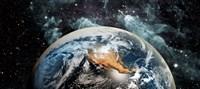 Earth in space Fine-Art Print
