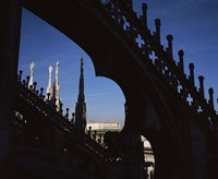 Low angle view of a cathedral, Duomo Di Milano, Milan, Lombardy, Italy Fine-Art Print