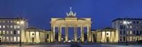 City gate lit up at night, Brandenburg Gate, Pariser Platz, Berlin, Germany Fine-Art Print