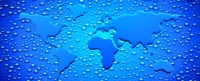 Water drops forming continents Fine-Art Print