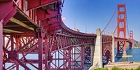 High dynamic range panorama showing structural supports for the bridge, Golden Gate Bridge, San Francisco, California, USA Fine-Art Print