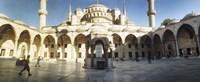 Courtyard of Blue Mosque in Istanbul, Turkey Fine-Art Print