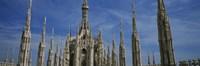 Facade of a cathedral, Piazza Del Duomo, Milan, Italy Fine-Art Print