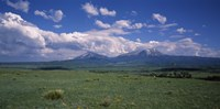 Meadow with mountains in the background, Cuchara River Valley, Huerfano County, Colorado, USA Fine-Art Print