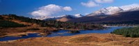Lake on mountainside, Loch Tulla, Rannoch Moor, Argyll, Scotland Fine-Art Print