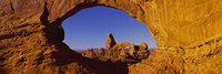 Natural arch on a landscape, Arches National Park, Utah, USA Fine-Art Print