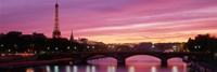 Sunset, Romantic City, Eiffel Tower, Paris, France Fine-Art Print