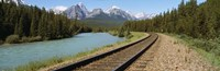 Railroad Tracks Bow River Alberta Canada Fine-Art Print