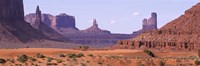 View To Northwest From 1st Marker In The Valley, Monument Valley, Arizona, USA, Fine-Art Print