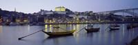 Boats In A River, Douro River, Porto, Portugal Fine-Art Print