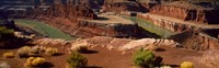 High angle view of a river flowing through a canyon, Dead Horse Point State Park, Utah, USA Fine-Art Print