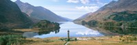 Scotland, Highlands, Loch Shiel Glenfinnan Monument, Reflection of cloud in the lake Fine-Art Print