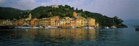 Town at the waterfront, Portofino, Italy Fine-Art Print
