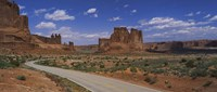 Empty road running through a national park, Arches National Park, Utah, USA Fine-Art Print