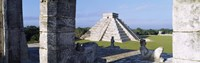 Pyramid in a field, El Castillo, Chichen Itza, Yucatan, Mexico Fine-Art Print