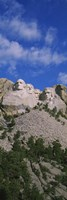 Sculptures of US presidents carved on the rocks of a mountain, Mt Rushmore National Monument, South Dakota, USA Fine-Art Print