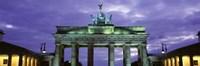 Low Angle View Of The Brandenburg Gate, Berlin, Germany Fine-Art Print