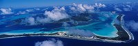 Aerial View Of An Island, Bora Bora, French Polynesia Fine-Art Print