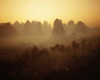 Sunrise in Mountains Guilin China Fine-Art Print
