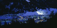 High angle view of a town, Davos, Switzerland Fine-Art Print