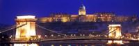 Chain Bridge, Royal Palace, Budapest, Hungary Fine-Art Print