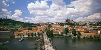 Aerial view of Charles Bridge Prague Czech Republic Fine-Art Print