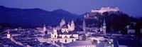 Austria, Salzburg, Panoramic view of the city in dusk Fine-Art Print