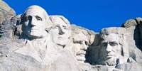 Mount Rushmore in White Fine-Art Print