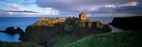 High angle view of a castle, Dunnottar Castle, Grampian, Stonehaven, Scotland Fine-Art Print