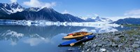 USA, Alaska, Kayaks by the side of a river Fine-Art Print