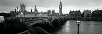 Bridge across a river, Westminster Bridge, Houses Of Parliament, Big Ben, London, England Fine-Art Print