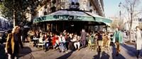 Group of people at a sidewalk cafe, Les Deux Magots, Saint-Germain-Des-Pres Quarter, Paris, France Fine-Art Print
