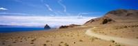 Dirt road on a landscape, Pyramid Lake, Nevada, USA Fine-Art Print