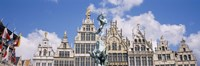 Low angle view of buildings, Grote Markt, Antwerp, Belgium Fine-Art Print