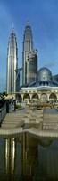 Mosque and Petronas Towers Kuala Lumpur Malaysia Fine-Art Print