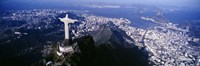 View of Christ the Redeemer and Rio De Janeiro, Brazil Fine-Art Print