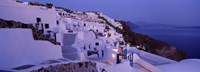 Buildings in a city at dusk, Santorini, Cyclades Islands, Greece Fine-Art Print