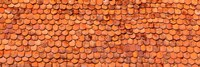 Close-Up Of Old Roof Tiles, Rothenburg, Germany Fine-Art Print