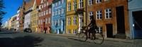 Woman Riding A Bicycle, Copenhagen, Denmark Fine-Art Print