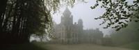 Castle Covered With Fog, Dunrobin Castle, Highlands, Scotland, United Kingdom Fine-Art Print