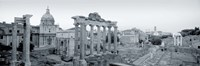 Ruins Of An Old Building, Rome, Italy (black and white) Fine-Art Print
