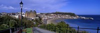 High Angle View Of A City, Scarborough, North Yorkshire, England, United Kingdom Fine-Art Print