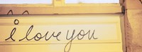 Close-up of I love you written on a wall Fine-Art Print