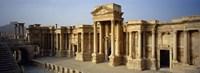 Facade of a building, Palmyra, Syria Fine-Art Print