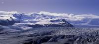 Snowcapped mountains on a landscape, Fjallsjokull and Vatnajokull, Iceland Fine-Art Print