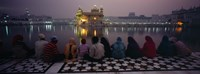 Group of people at a temple, Golden Temple, Amritsar, Punjab, India Fine-Art Print