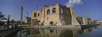 Reflection of a building in a pond, Assai Al-Hamra, Tripoli, Libya Fine-Art Print