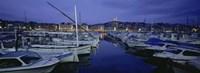 Boats docked at a port, Old Port, Marseille, Bouches-Du-Rhone, Provence-Alpes-Cote Daze, France Fine-Art Print
